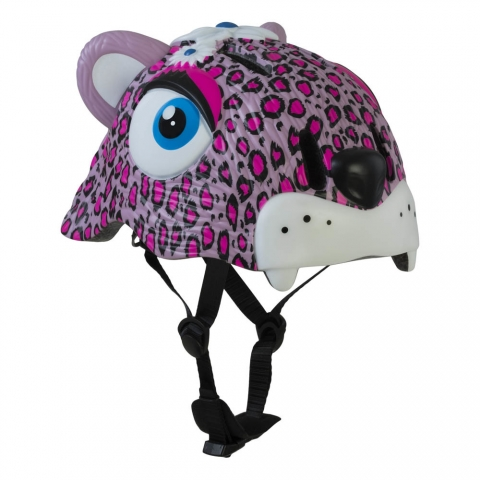 Casco CRAZY SAFETY per roller, monopattino e bici - Leopardo rosa