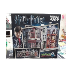 Wrebit puzzle Harry Potter diagon alley 450 pezzi in 3d