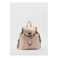 Zainetto Gaudì rosa metallizzato con borchie