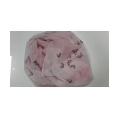 Pashmina in seta CARUSO - Farfalle rosa