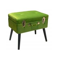 Bauletto Poggiapiedi -Pusher -Colore verde velvet