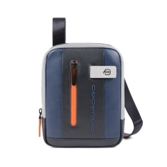 Borsello porta iPad®mini Urban blu - PIQUADRO