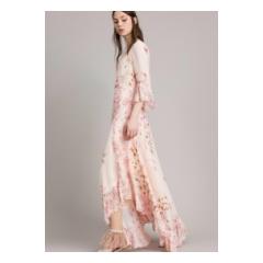 abito lungo georgette fiori twinset