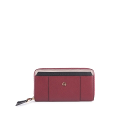Portafoglio donna a quattro soffietti con zip PIQUADRO  - Rosso