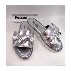 Ciabatta argento Pollini
