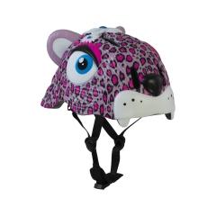 Casco CRAZY SAFETY per roller, monopattino e bici - Leopardo rosa