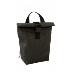 ZAINO/BORSA .MODELLO DISTRICT SMALL MESSENGER IN  CUOIO RIGENERATO NERO. ESSENT'IAL