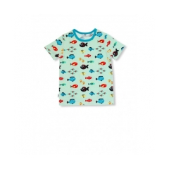 T-SHIRT SWIMMING FISH, TAGLIA 86, JNY, SW49121-86